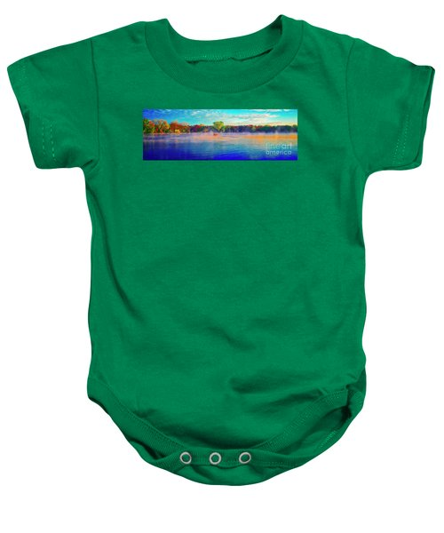 Fishing On Crystal Lake, Il., Sport, Fall Baby Onesie
