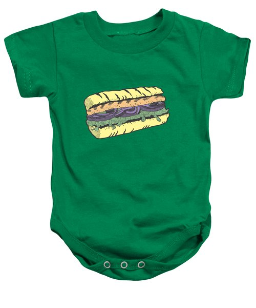 Food Masquerade Baby Onesie by Freshinkstain