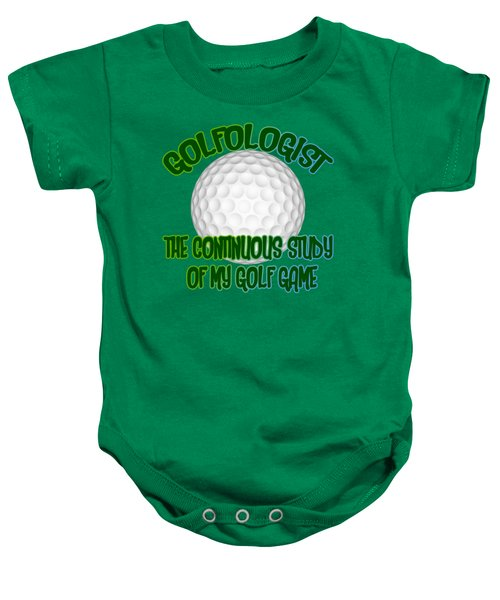 Golfologist Baby Onesie by David G Paul