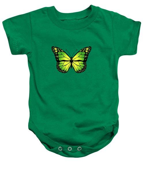 Green Butterfly Baby Onesie by Gaspar Avila