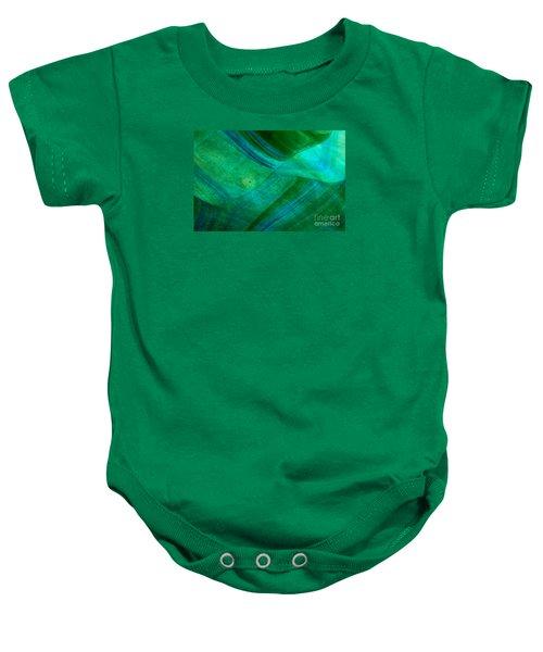 Green Wave Baby Onesie