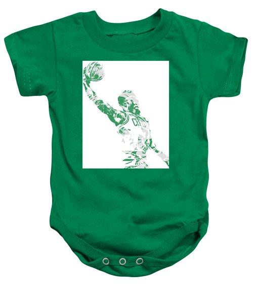 Jaylen Brown Boston Celtics Pixel Art 11 Baby Onesie