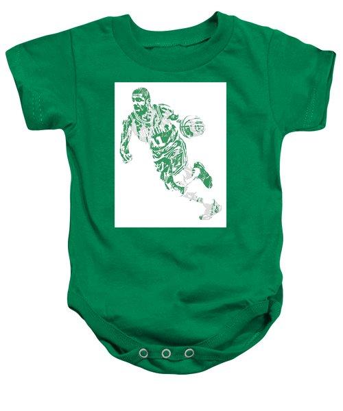 Kyrie Irving Boston Celtics Pixel Art 9 Baby Onesie