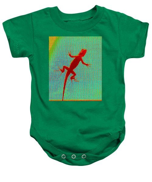 Lizard On The Screen Baby Onesie