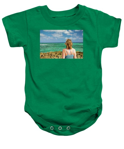 Looking Out Baby Onesie