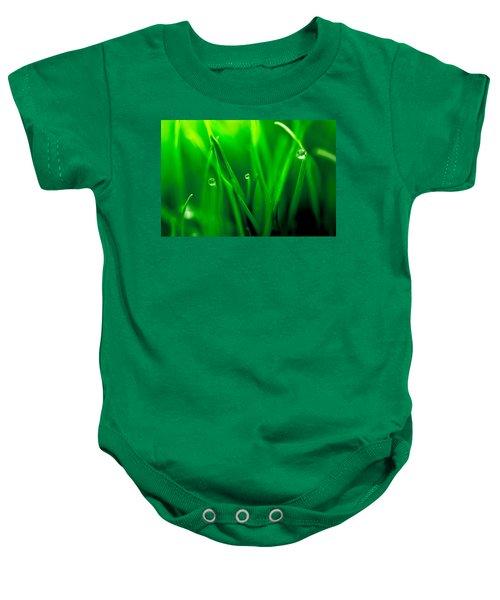 Macro Image Of Fresh Green Grass Baby Onesie
