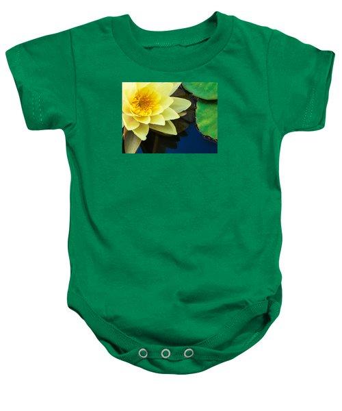 Macro Image Of Yellow Water Lilly Baby Onesie