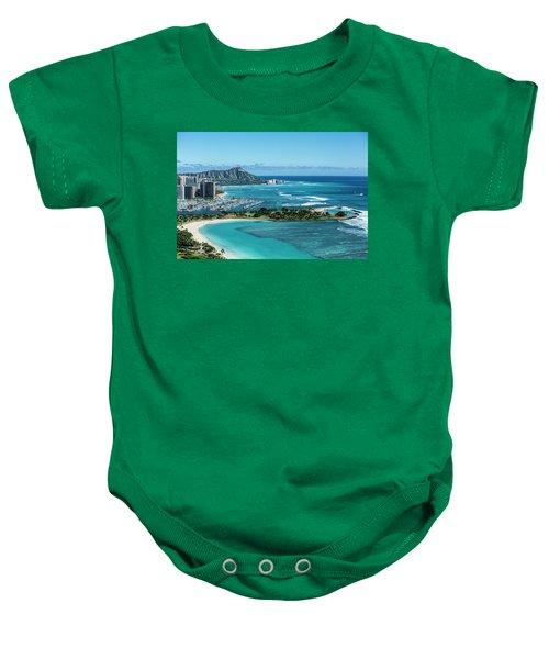 Magic Island To Diamond Head Baby Onesie