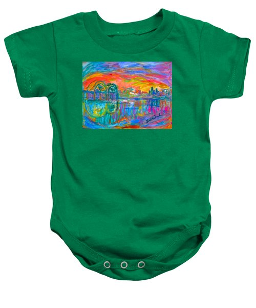Baby Onesie featuring the painting Memphis Spin by Kendall Kessler