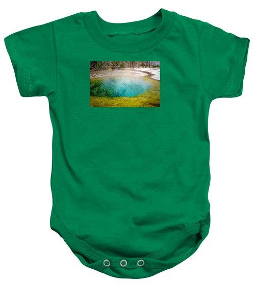 Morning Glory Pool Yellowstone National Park Baby Onesie