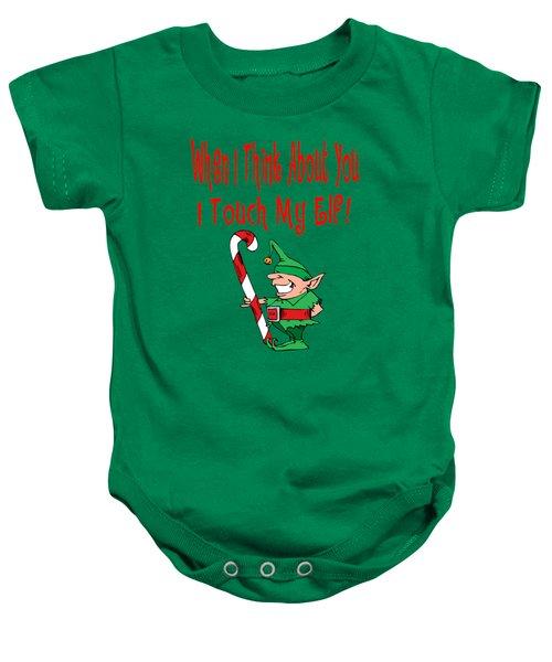 Naughty Christmas Elf Baby Onesie by Susan Cooper