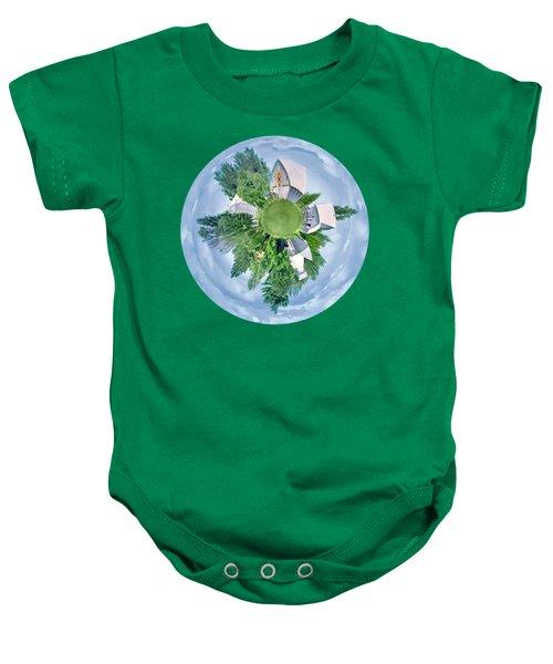Nebraska Farm - Transparent Baby Onesie
