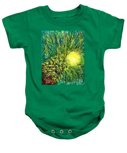 Palm Sunburst  Baby Onesie