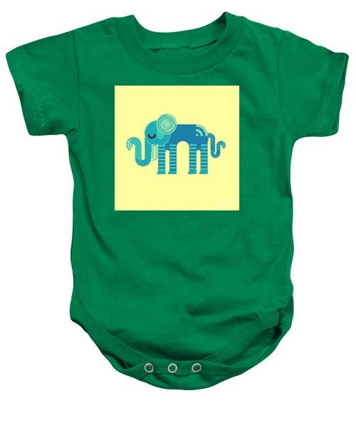 Pattern Elephant Baby Onesie