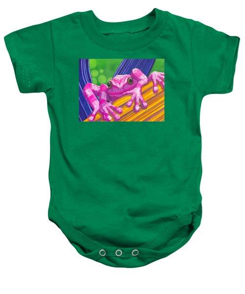 Pink Frog Baby Onesie