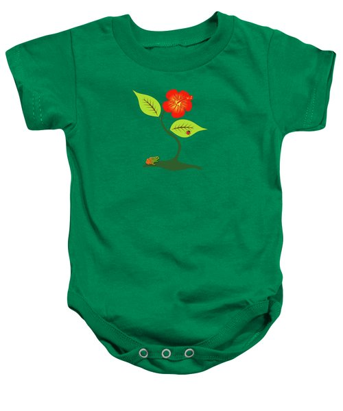Plant And Flower Baby Onesie by Gaspar Avila