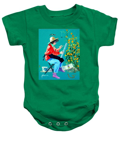 Plein Air Painter  Baby Onesie