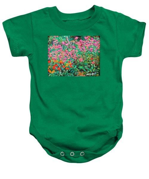 Radford Flower Garden Baby Onesie