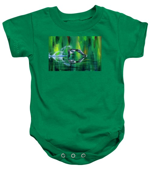 Rocket Feathers Baby Onesie
