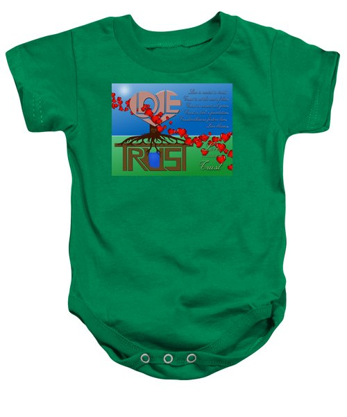 Rooted In Trust Baby Onesie