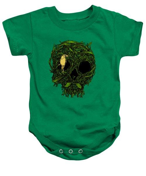 Skull Nest Baby Onesie