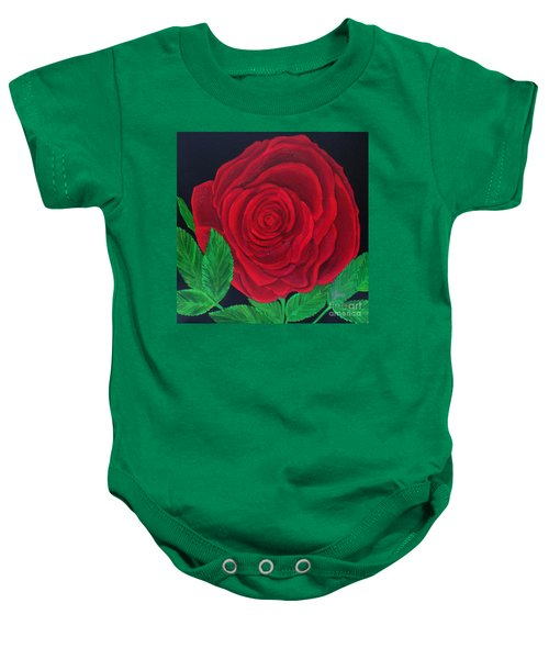Solitary Red Rose Baby Onesie