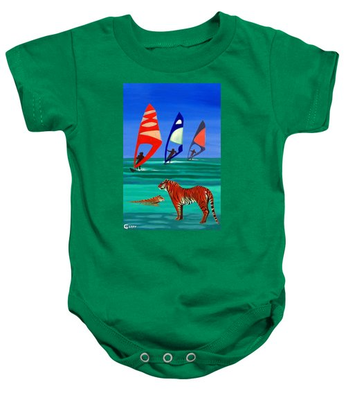 Tigers Sons Of The Sun Baby Onesie