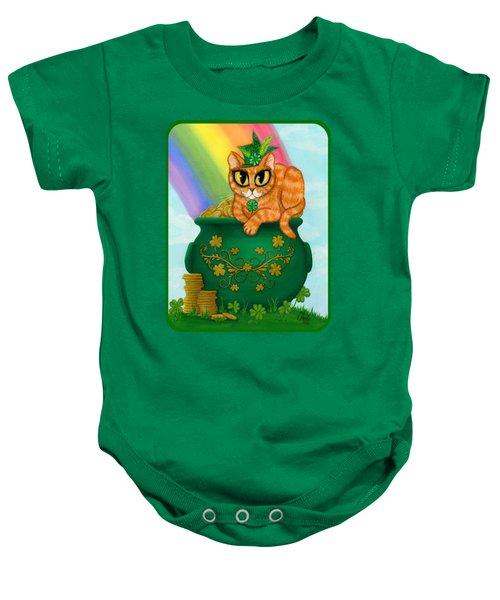 St. Paddy's Day Cat - Orange Tabby Baby Onesie