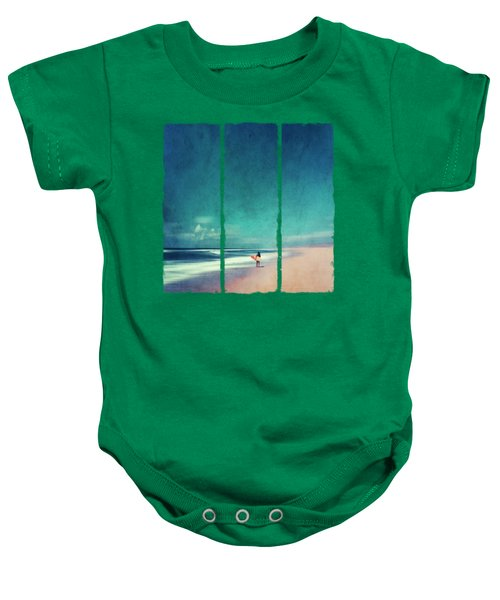 Summer Days - Abstract Seascape With Surfer Baby Onesie