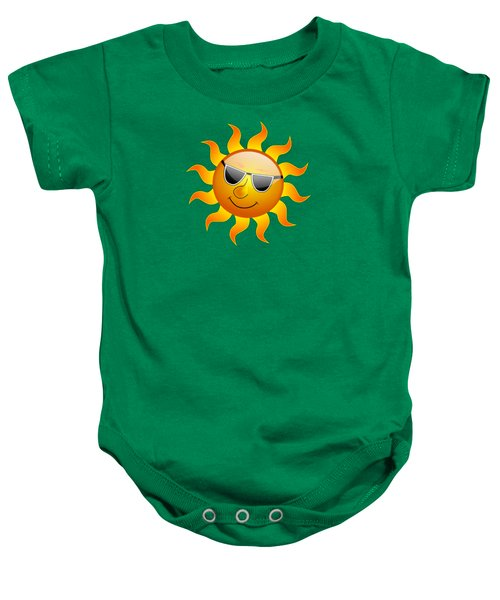 Sun With Sunglasses Baby Onesie