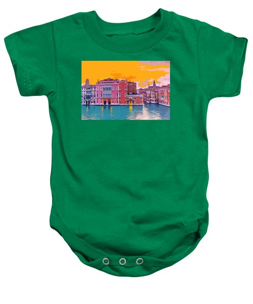 Sunset On The Grand Canal Venice Baby Onesie
