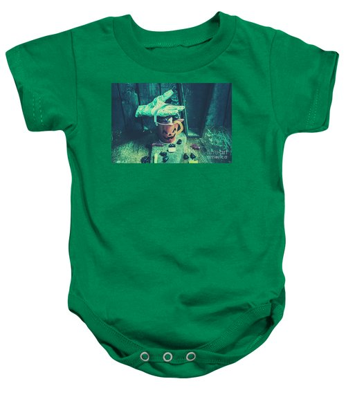 Taking Candy From The Little Monsters Baby Onesie