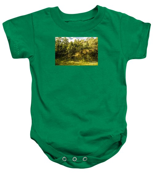 Temperate Rainforest Scene Baby Onesie