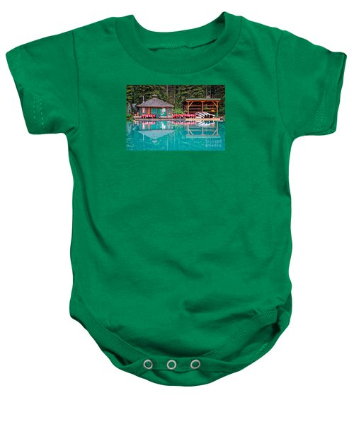 The Boat House At Emerald Lake In Yoho National Park Baby Onesie