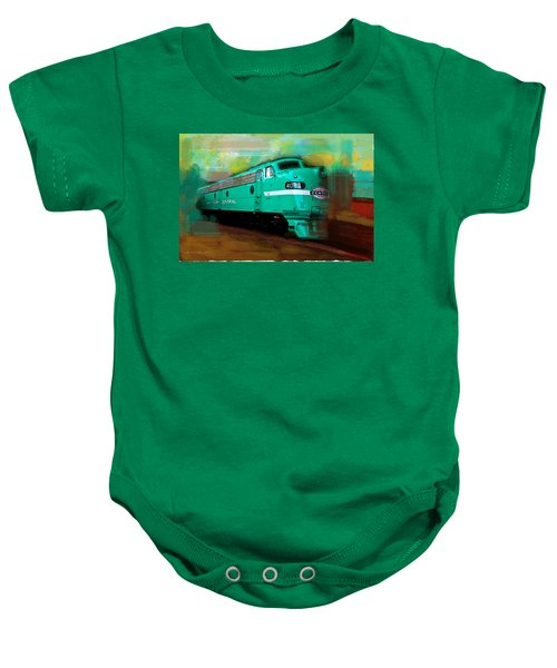 Flash II  The Ny Central 4083  Train  Baby Onesie