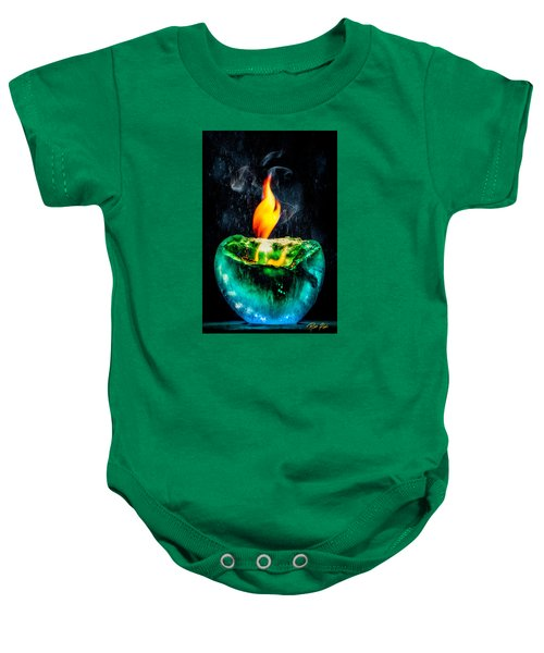 Baby Onesie featuring the photograph The Winter Of Fire And Ice by Rikk Flohr