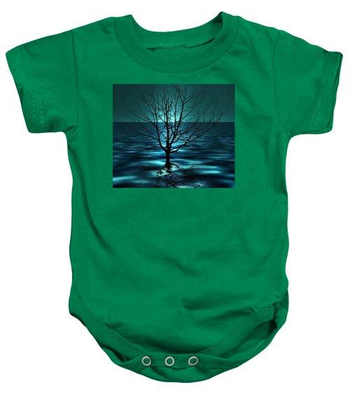 Tree In Ocean Baby Onesie