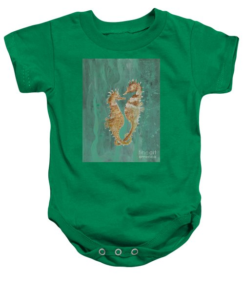 Two Seahorse Lovers Baby Onesie