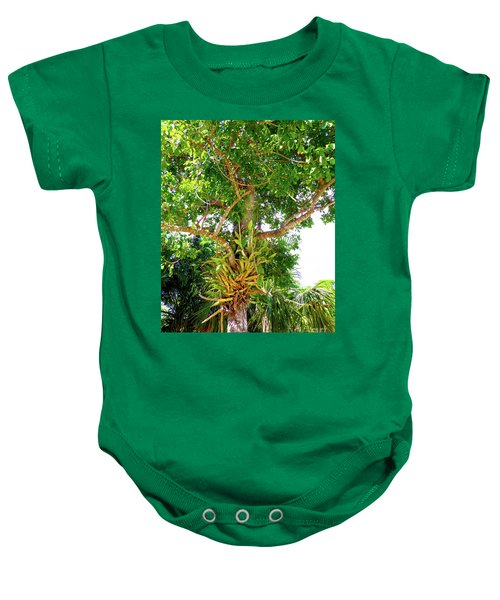 Baby Onesie featuring the photograph Under A Tropical Tree M by Francesca Mackenney
