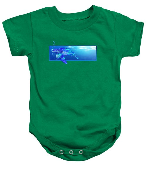 Underwater Sea Turtle Baby Onesie by Chris MacDonald