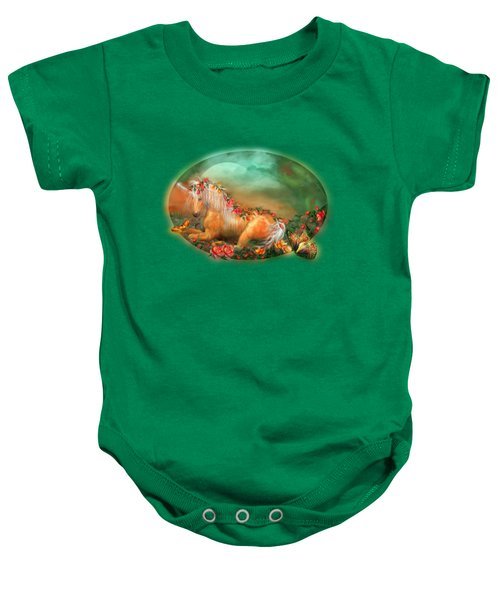 Unicorn Of The Roses Baby Onesie