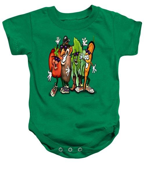 Veggies Baby Onesie by Kevin Middleton