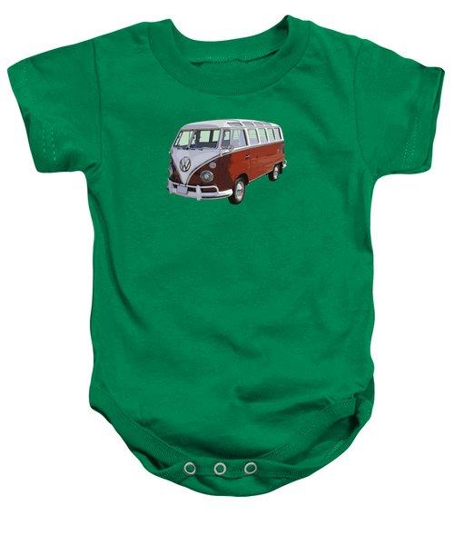 Volkswagen Bus 21 Window Bus  Baby Onesie