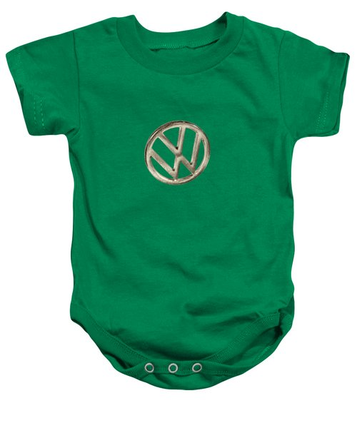 Vw Car Emblem Baby Onesie by YoPedro