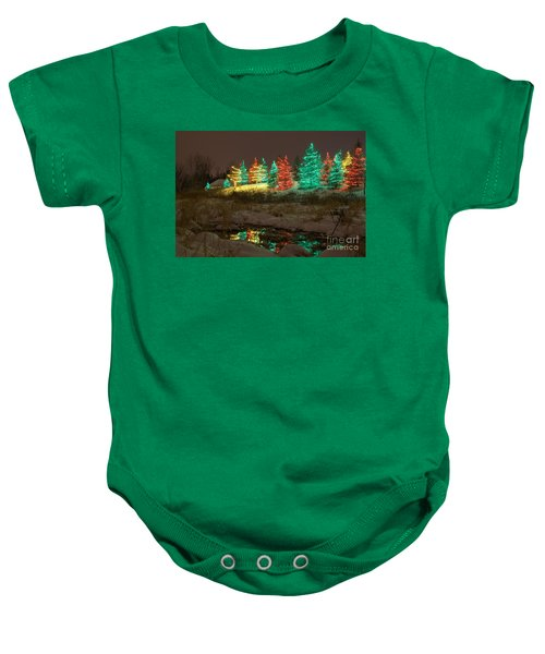 Whimsical Christmas Lights Baby Onesie