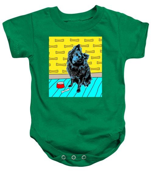 Blue Dog Baby Onesie