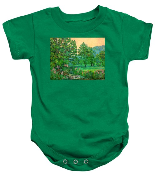 Baby Onesie featuring the painting Park Road In Radford by Kendall Kessler
