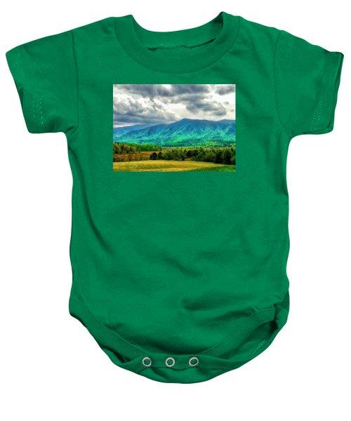 Smoky Mountain Farm Land Baby Onesie