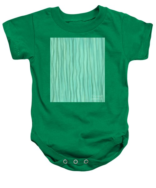 Soft Green Lines Baby Onesie