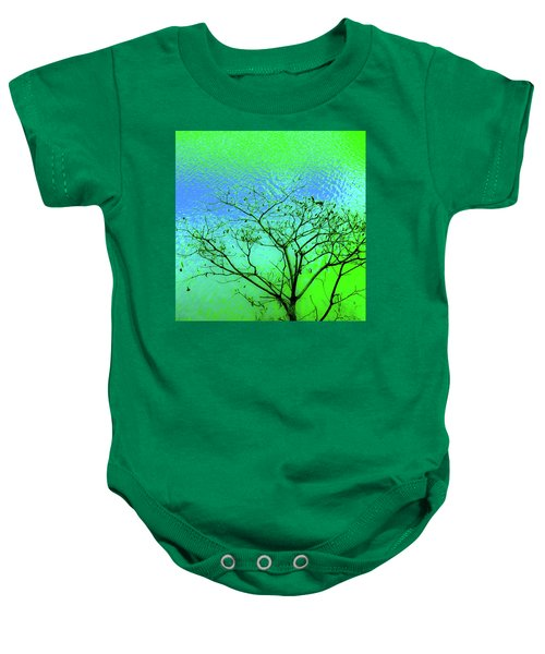 Tree And Water 3 Baby Onesie
